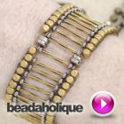 Tutorial - Videos: How to Bead Weave a Metal Bead Bracelet using Modified Ladder Stitch | Beadaholique
