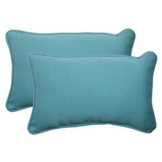 Pillow Perfect Indoor/Outdoor Forsyth Corded Rectangular Throw Pillow, Turquoise, Set of 2 Pillow Perfect,http://www.amazon.com/dp/B00BU6VD54/ref=cm_sw_r_pi_dp_guemtb0NV5Y3A9Y2