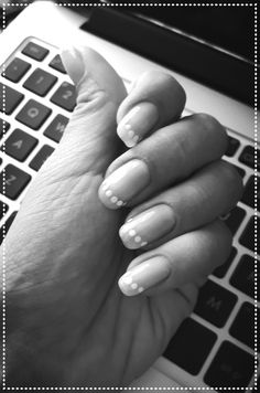 Summer dotty french manicure ❤