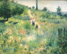 Renoir, Cammino montano nell'erba alta (1875)
