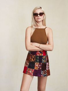 Your dream vintage skirt except better because it smells nice and actually fits you. The Woodstock Skirt. https://www.thereformation.com/products/woodstock-skirt-patches?utm_source=pinterest&utm_medium=organic&utm_campaign=PinterestOwnedPins