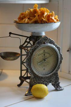 Ornate vintage kitchen scale