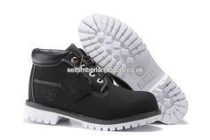 2017 New Timberland Chukka Boots Women Waterproof Oxford Black White Outlet UK £72.00