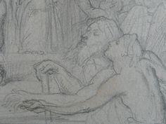 CHASSERIAU Théodore,1843 - Ste Marie l'Egyptienne, Etude pour l'Eglise St-Merri - drawing - Détail 19