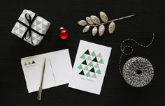 Holiday Postcards by Pei Design