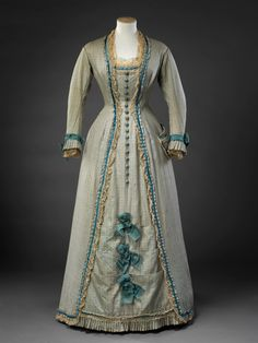 Dress, late 1870′s From the John Bright Historic Costume Collection