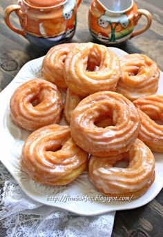 Chocolate dust: French crullers