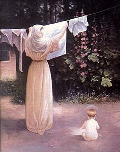 Polish Madonna (Our Lady of the Clean Laundry). Blessed Mother Mary, Blessed Virgin Mary, Divine Mother, Religious Images, Religious Art, Mama Mary, Mary And Jesus, Holy Mary, Madonna And Child