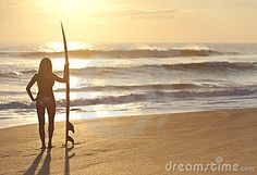 Google Image Result for http://www.dreamstime.com/woman-surfer-in-bikini-surfboard-at-sunset-beach-thumb23952382.jpg