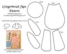 Gingerbread Man Paper Piecing Pattern