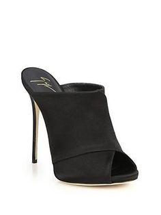 5ea06d24122 Giuseppe Zanotti Shoes CrissCross Peekaboo toe heels Black Černé Boty Na  Podpatku