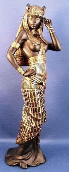 ✯ Bastet Cat Woman Goddess Statue✯