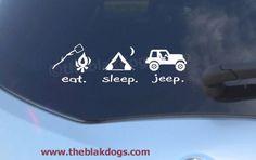 Eat. Sleep. Jeep. Vinyl Car Decal Sticker