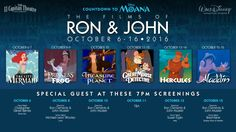 Countdown to Moana with a Ron Clements and John Musker Film Festival!