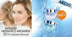 Fedezd fel az intenzíven hidratált bőr titkát az AVON Anew Hydro-Advance hidratáló éjszakai-és nappali krémeivel!