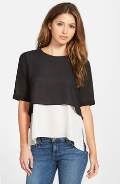 Sanctuary+'Erica'+Two+Layer+Top+available+at+#Nordstrom