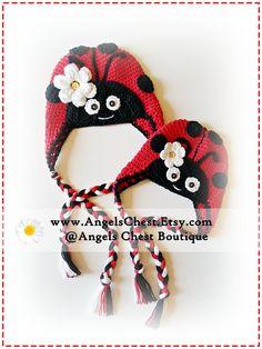 Crochet LADYBUG HAT PDF Pattern Sizes Newborn to by AngelsChest, $6.99