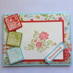 Sale-a-bration 2012!  Just put this together this fun card for my stamp club tomorrow. Love my postage stamp punch!