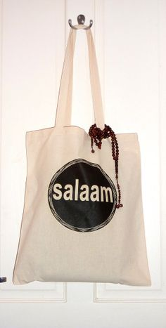 Salaam Tote ETSY, the perfect hijabi accessory! :)