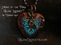 Glowies.net - Heart of the Fairy Glow Locket Steampunk Magic Wings