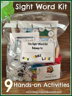 9 hands-on activities for teaching and practicing sight words.
