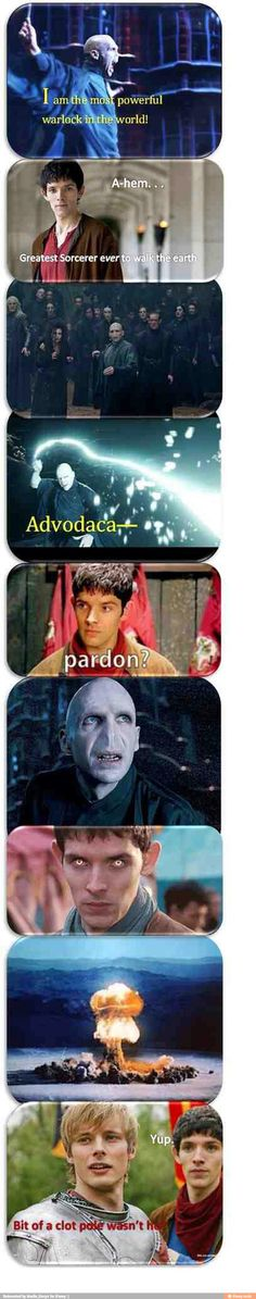 Merlin will win every time.