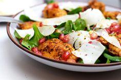 Hähnchen-Ziegenkäse-Salat