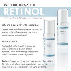 Ingredients Matter: Retinol. Glo Minerals Retinol CS has 3% buffered Retinol + 5% Glycolic Acid & is awesome. I can use it every night.