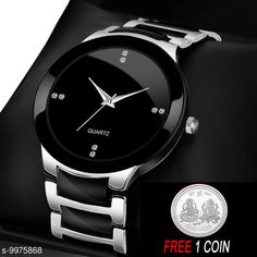 Watches FREE 1 PCS SILVER COLOR COIN Analogue silver Dial Basics Wrist Watch for Men - IIK Full silver Men Strap Material: Metal Display Type: Analogue Size: Free Size Multipack: 1 Country of Origin: India Sizes Available: Free Size   Catalog Rating: ★4.1 (6384)  Catalog Name: Attractive Men Watches CatalogID_1780227 C65-SC1232 Code: 882-9975868-234