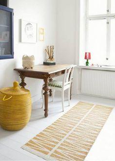 Un tapis pratique, coloré et design