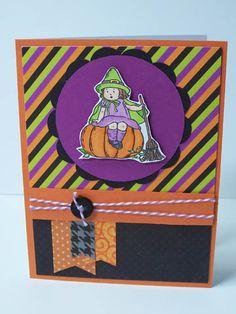 Halloween Card - Stampin Up Greeting Card Kids stamp set