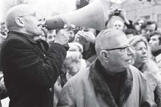 """Michel Foucault and Jean-Paul Sartre in a protest. More about Foucault's """"counter-discourse"""" here... http://earthpages.wordpress.com/2013/02/07/counter-discourse/"""
