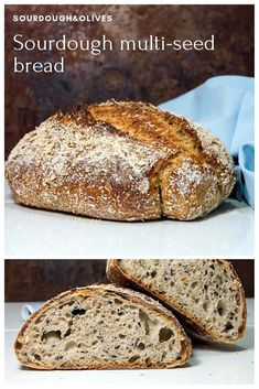 This sourdough multi-seed bread with toasted oatmeal and a hint of whole rye have a lot of exciting and delicious flavors. Try it with your favorite cheese. Soft Bread Recipe, Rye Bread Recipes, Sourdough Recipes, Pan Bread, Bread Cake, Sourdough Rye Bread, Starter Recipes, Seed Bread