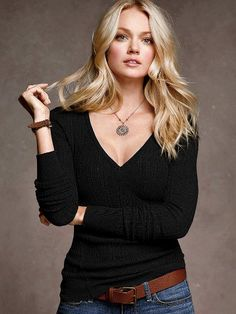 Cotton Thermal V-neck Sweater #VictoriasSecret http://www.victoriassecret.com/clothing/all-sweaters/cotton-thermal-v-neck-sweater?ProductID=57326=OLS?cm_mmc=pinterest-_-product-_-x-_-x
