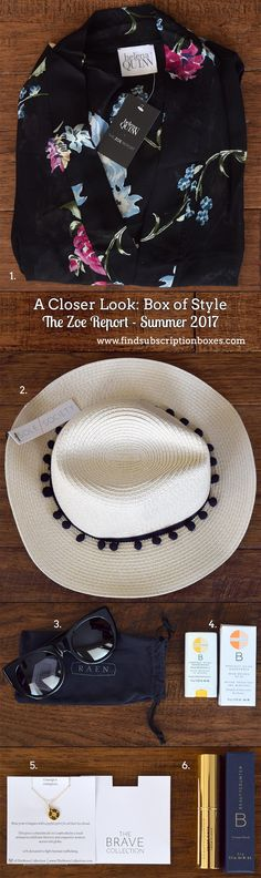 Check out the Summer Box of Style by The Zoe Report! See all the amazing products Rachel Zoe and The Zoe Report team chose for the Summer Box of Style! Beauty treats, kimono, Panama hat & more. Join now and save $10! http://www.findsubscriptionboxes.com/a-closer-look/summer-2017-box-of-style-review/?utm_campaign=coschedule&utm_source=pinterest&utm_medium=Find%20Subscription%20Boxes&utm_content=The%20Zoe%20Report%20Summer%202017%20Box%20of%20Style%20Review%20%2B%20Coupon  #BoxofStyle