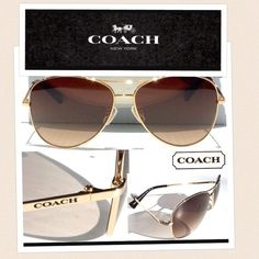COACH AVIATORS Brand new 100% authentic Coach aviators. Comes with case, cloth and coach booklet. Perfect condition! No trades Coach Accessories Glasses