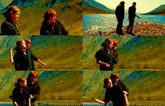 """Ron and Hermione doing their best out-beach Eternal Sunshine and the Spotless Mind . 