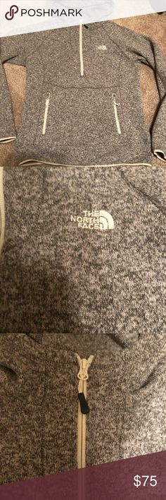 The north face pullover grey Women's medium north face pullover worn and well Loved but good condition no stains or holes. The North Face Tops Sweatshirts & Hoodies