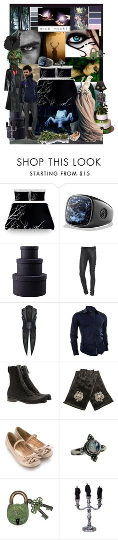 """""""Where the Forrest meets the Sea"""" by verysmallgoddess ❤ liked on Polyvore featuring Once Upon a Time, Kess InHouse, David Yurman, Julius, Universal, Esquivel, IRFE, Monsoon, Marchesa and Leather"""