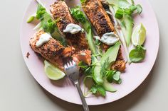 Spiced salmon with citrus yoghurt