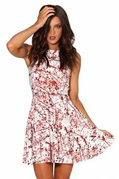 2e81aba0bda Halloween Blood Splatter Skater Dress