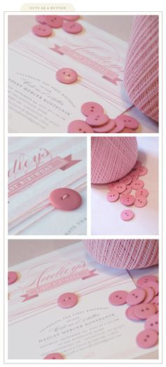 cute as a button invitation for a button party I planned. Invitation designed by @Susan Chickilly Sidoriak at silverboxcreative...