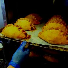 Pasties in the oven