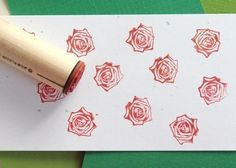 Real Rose Rubber Stamp by norajane on Etsy