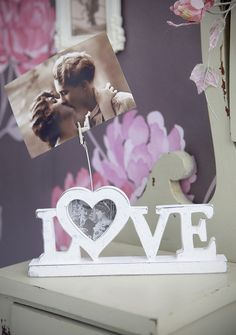 Love Photo Frame with Clip