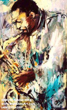 John Coltrane Art Painting by BRUNI Sablan