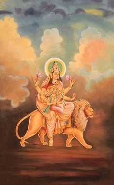 Navratri Puja will help you overcome all your negativities. Flourish with wealth on this Navratri by offering Homam to Lakshmi, Saraswathi & Durga. Durga Kali, Durga Goddess, Shiva, Krishna, Indian Goddess, Goddess Art, Divine Mother, Mother Goddess, Navratri Puja