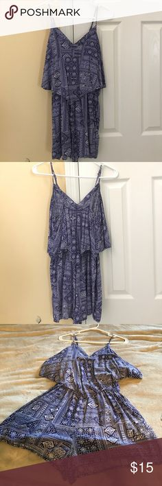 Cotton On Blue & White Print Romper Soft fabric, causal and elegant, great condition Cotton On Pants Jumpsuits & Rompers