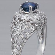 Art Nouveau Sapphire....uhm birthday present? That's totes my birthstone!