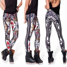 New Cool Fashion Lady Hot Women 3D Graphic Colourful Printed Leggings Yoga